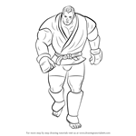 How to Draw Abel from Street Fighter