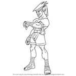 How to Draw Adon from Street Fighter