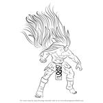 How to Draw Necalli from Street Fighter