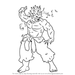 How to Draw Oni from Street Fighter