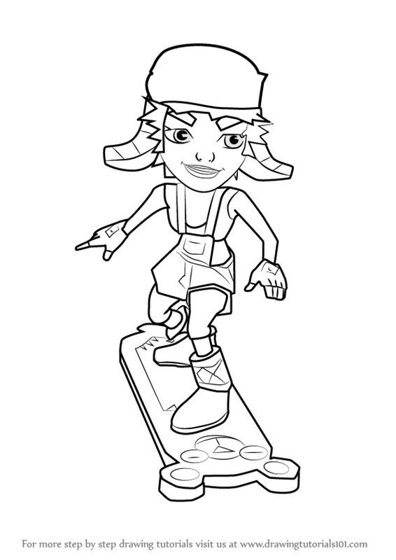 Tricky from subway surfers coloring pages coloring pages for Subway surfers coloring pages