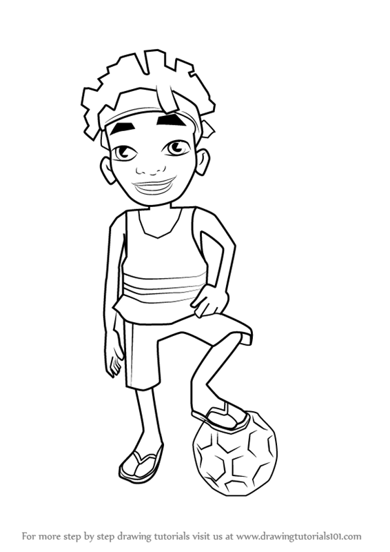 Step By Step How To Draw Edison From Subway Surfers