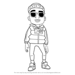 How to Draw Jamie from Subway Surfers