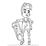 How to Draw Nick from Subway Surfers