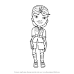 How to Draw Olivia from Subway Surfers