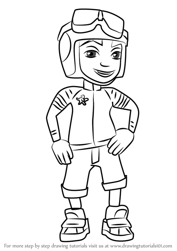 Learn How To Draw Roberto From Subway Surfers Subway