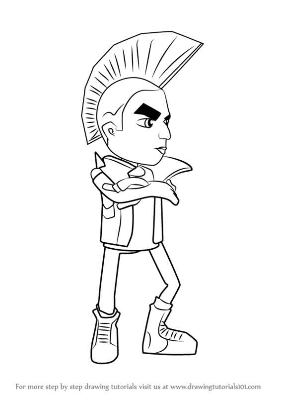Yutani page coloring pages for Subway surfers coloring pages
