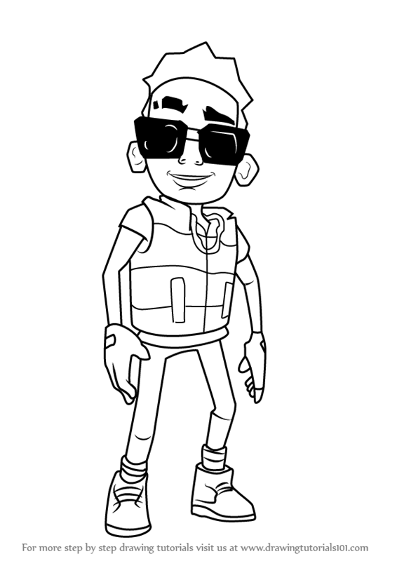 Learn How To Draw Tony From Subway Surfers Subway Surfers