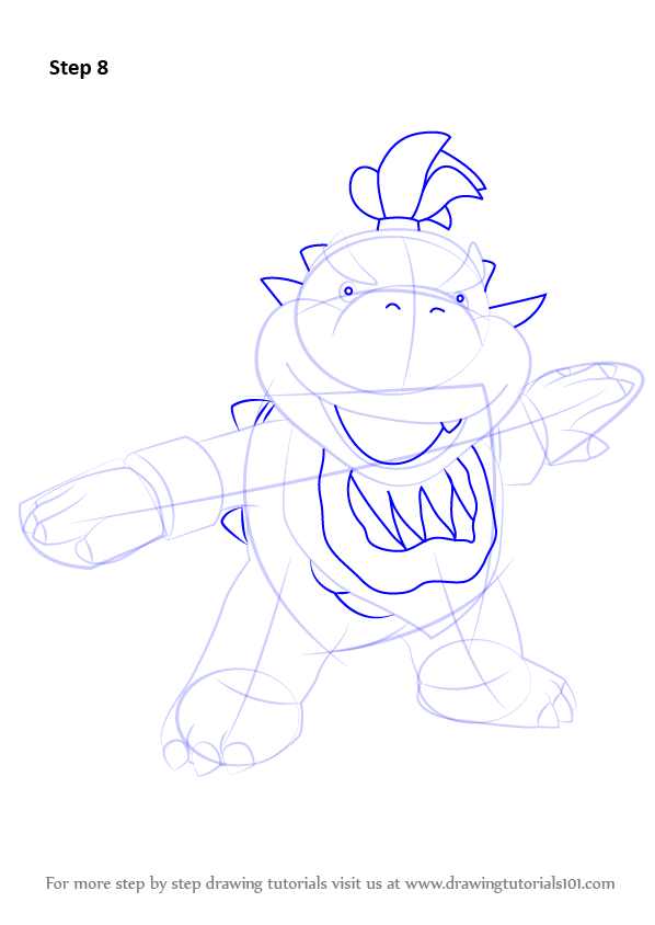 Step By Step How To Draw Bowser Jr From Super Mario