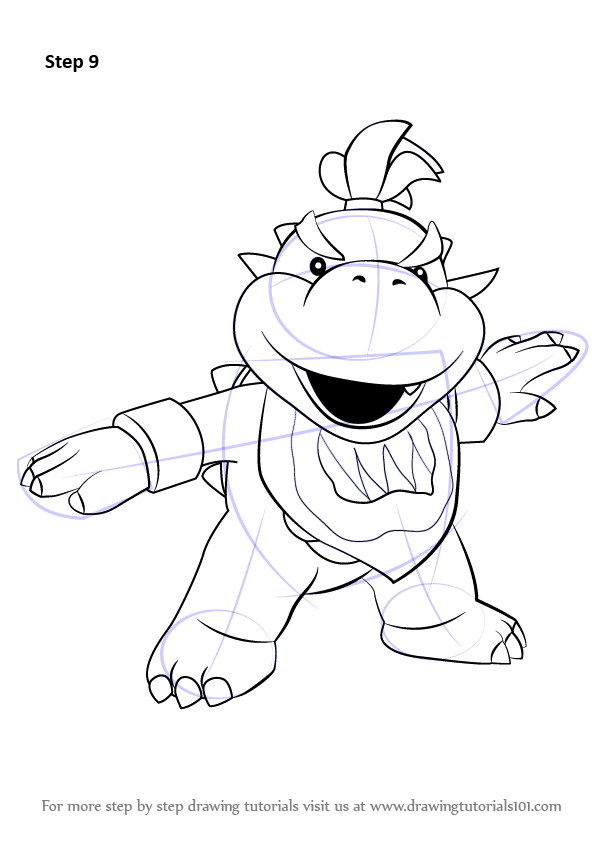 Learn How to Draw Bowser Jr from Super Mario Super Mario Step