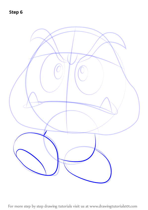 Learn How To Draw Goomba From Super Mario Super Mario