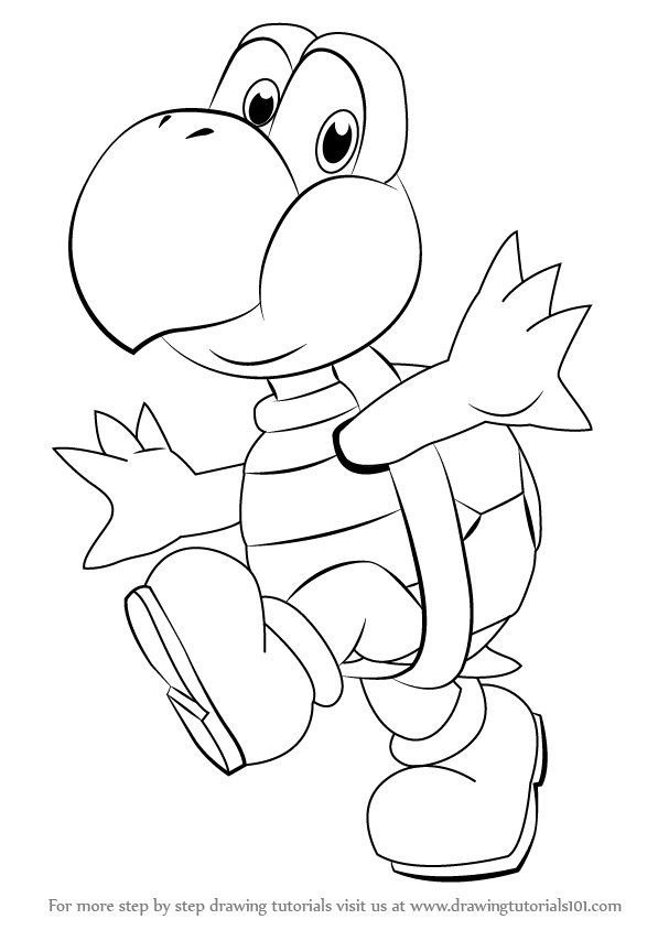 learn how to draw koopa troopa from super mario super
