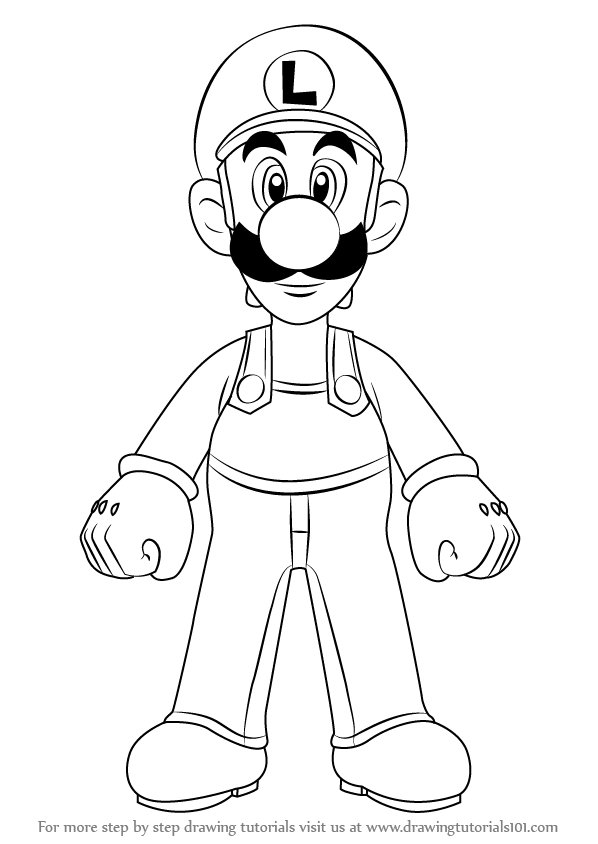Learn How To Draw Luigi From Super Mario Super Mario Step By Step
