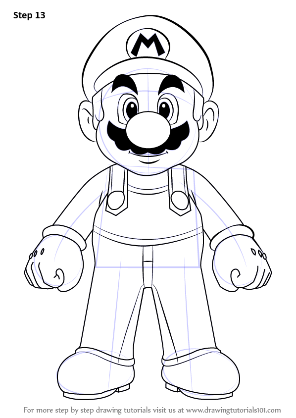 How to Draw Super Mario Easy - YouTube