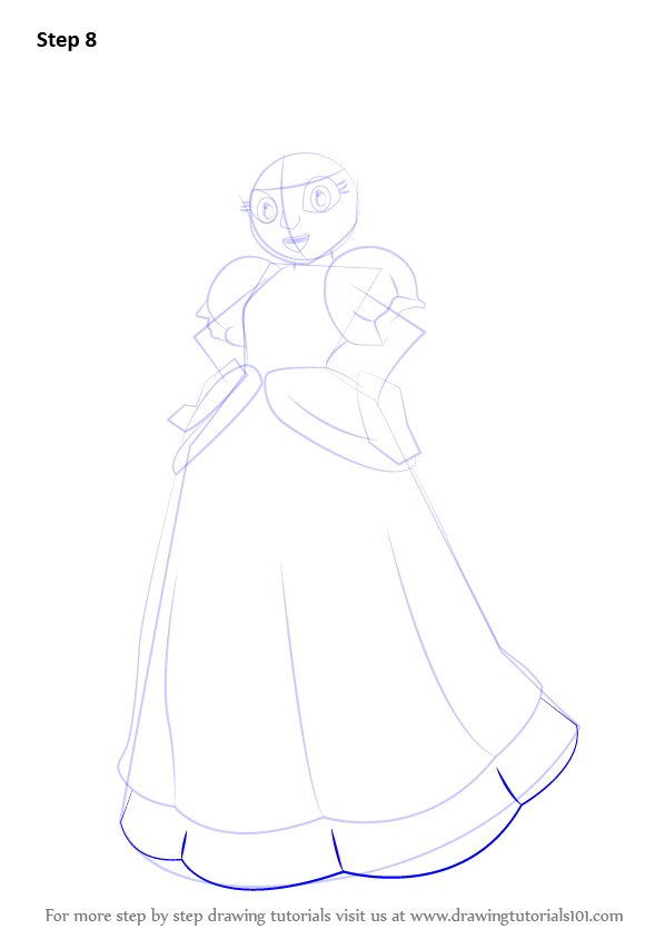 how to draw a frock