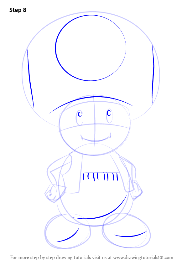 Learn How to Draw Toad from Super Mario (Super Mario) Step ...