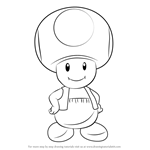 How to Draw Toad from Super Mario