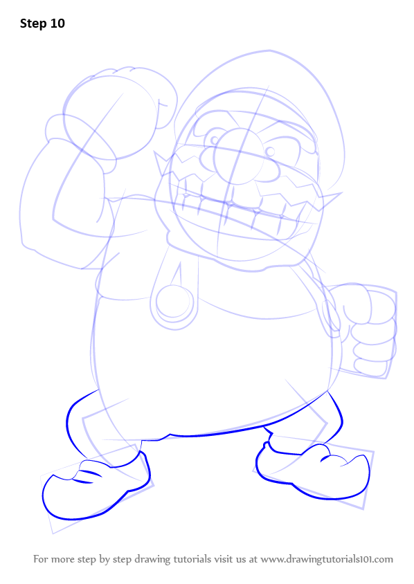 learn how to draw wario from super mario super mario