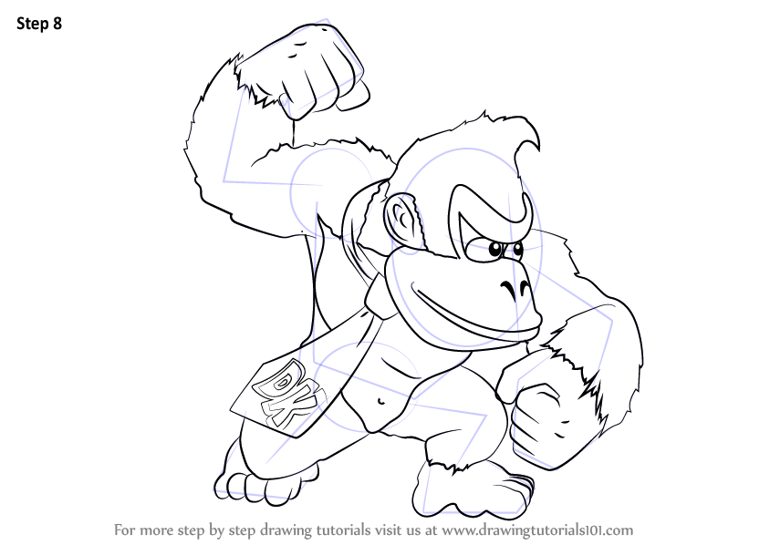 Learn How To Draw Donkey Kong From Super Smash Bros Super