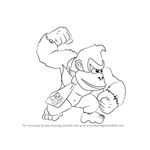 How to Draw Donkey Kong from Super Smash Bros