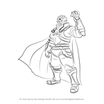 How to Draw Ganondorf from Super Smash Bros