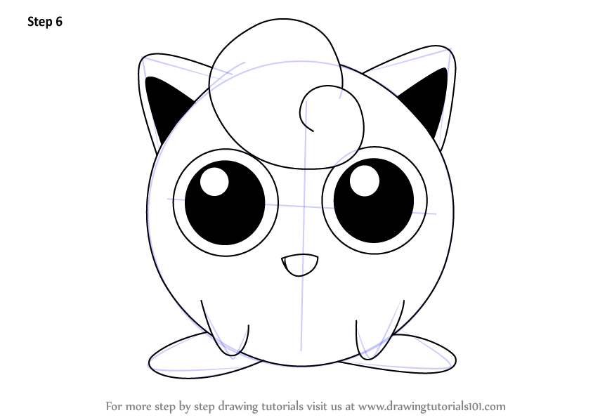 step by step how to draw jigglypuff from super smash bros   drawingtutorials101 com