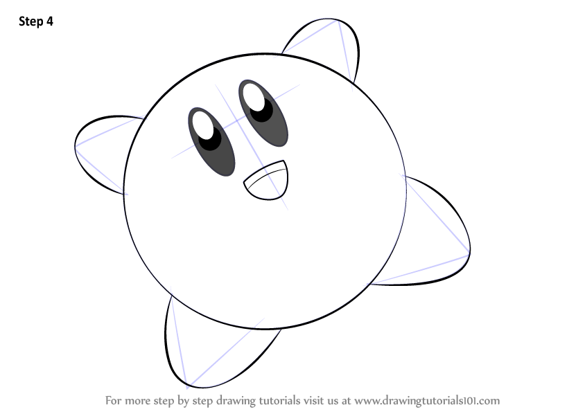 Learn How To Draw Kirby From Super Smash Bros Super Smash