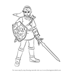 How to Draw Link from Super Smash Bros