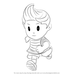 How to Draw Lucas from Super Smash Bros