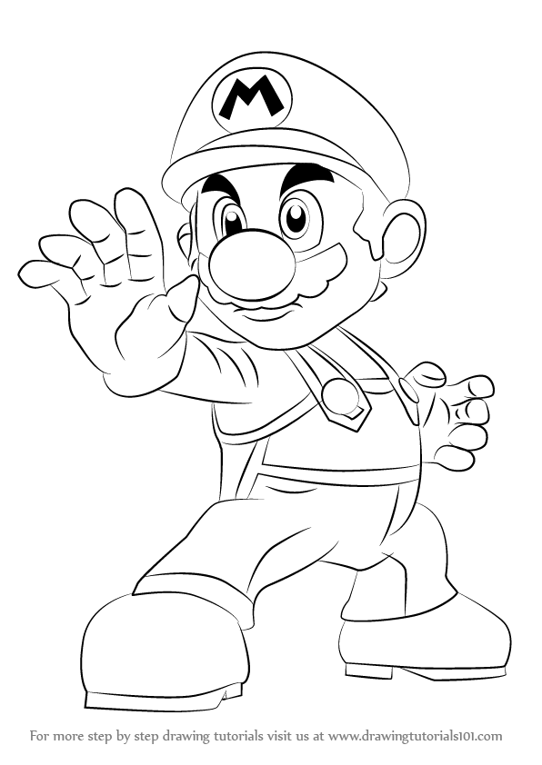 Step by Step How to Draw Mario