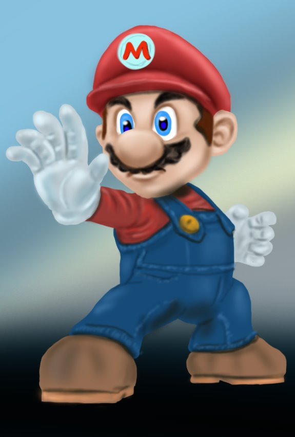 How To Draw Mario From Super Smash Bros