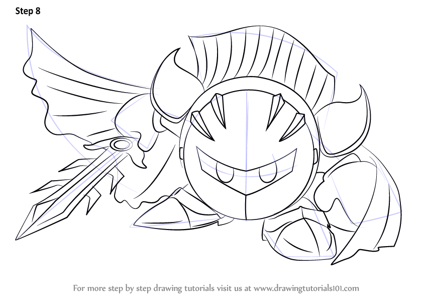 Learn How To Draw Meta Knight From Super Smash Bros Super