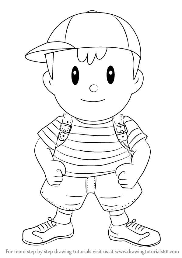 Learn How To Draw Ness From Super Smash Bros Super Smash