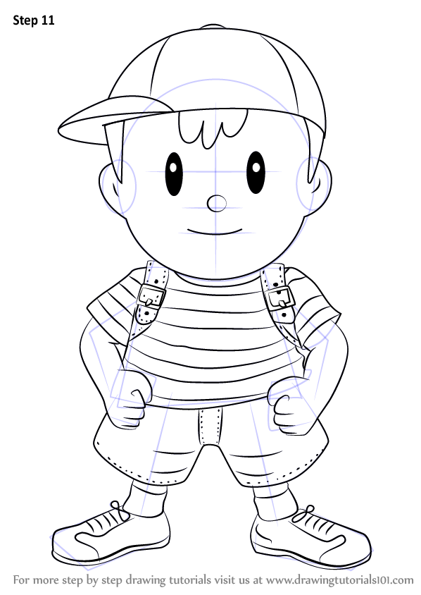 Step by Step How to Draw Ness from
