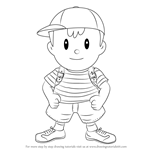 How to Draw Ness from Super Smash Bros
