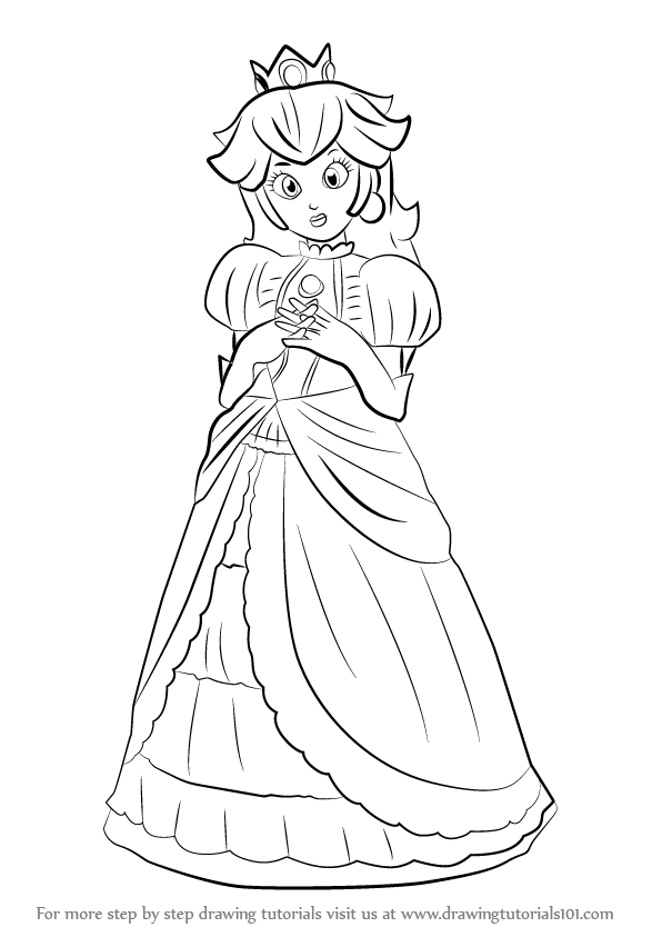Learn How To Draw Peach From Super Smash Bros Super Smash