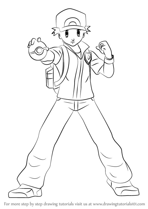 Learn How to Draw Pokmon Trainer from Super Smash Bros Super