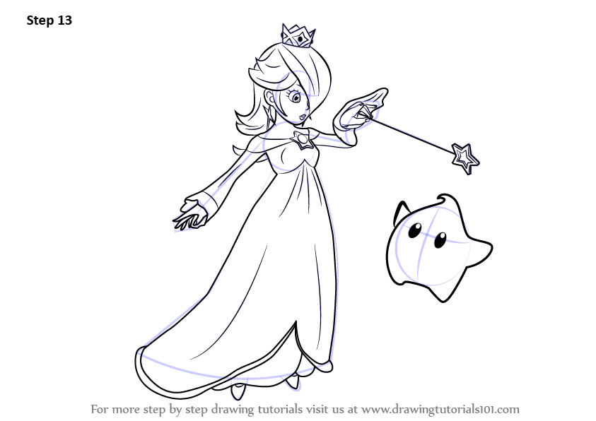Learn Draw Rosalina Luma Super Smash Bros