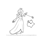 How to Draw Rosalina & Luma from Super Smash Bros