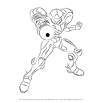 How to Draw Samus from Super Smash Bros