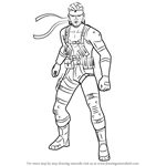 How to Draw Snake from Super Smash Bros