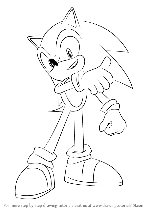 Learn How to Draw Sonic from Super Smash Bros (Super Smash ...