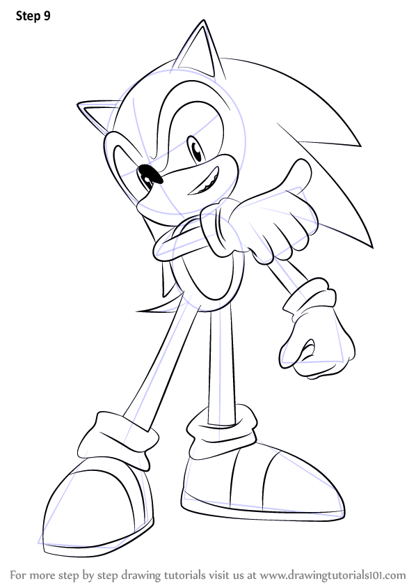 Learn How to Draw Sonic from Super