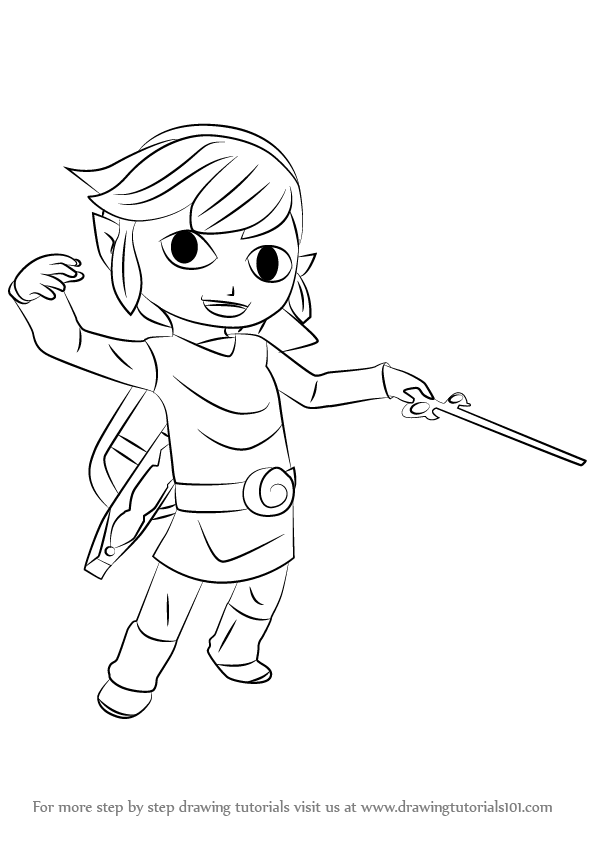 Learn How To Draw Toon Link From Super Smash Bros Super