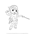 How to Draw Toon Link from Super Smash Bros