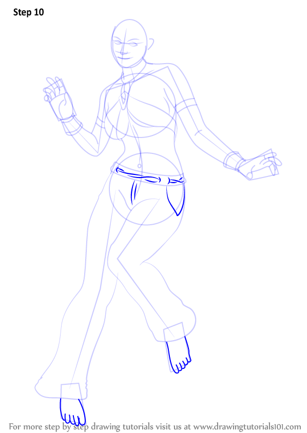 Step by step how to draw christie monteiro from tekken for Ro draw