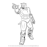 How to Draw King from Tekken