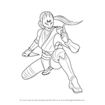How to Draw Kunimitsu from Tekken