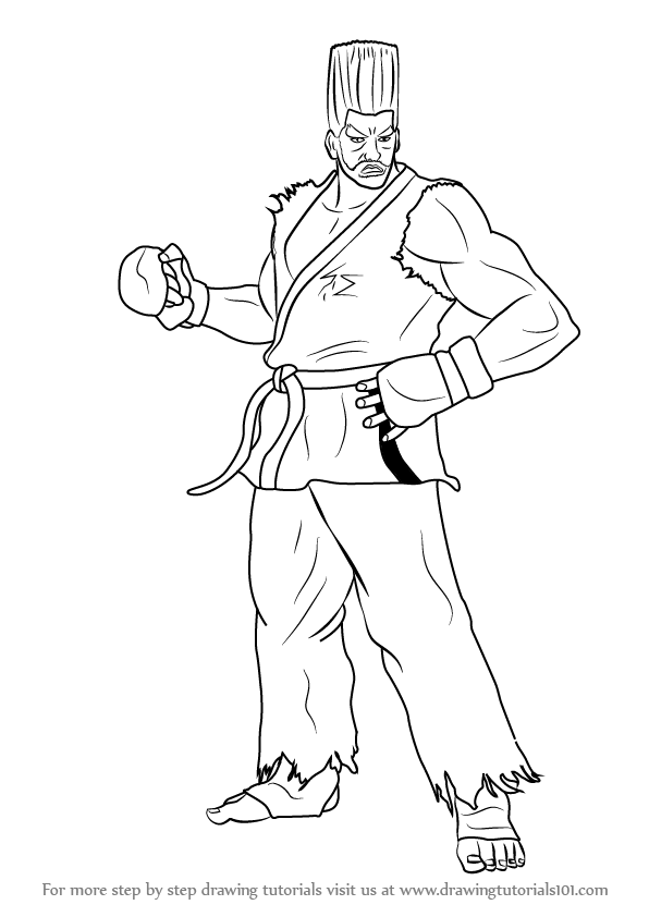 Learn How to Draw Paul Phoenix from Tekken (Tekken) Step ...