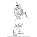 How to Draw Yoshimitsu from Tekken